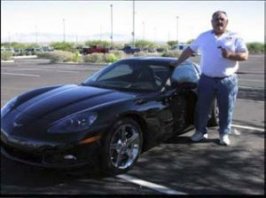 Firefighter Wins Corvette in LAF Raffle